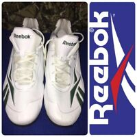 Reebok Hexride Men's Athletic Shoes Size 13 White/Green Walking Casual Sneakers