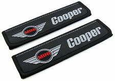 Leather Car Seat Belt Shoulder Pads Covers Cushion For Mini Cooper  2pcs