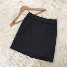 Banana Republic Women's 00P Petite Mini Pencil Skirt Gray Straight Above Knee