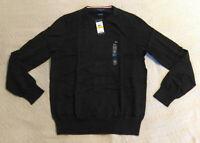 Tommy Hilfiger Men's L/S Signature Solid Sweater MC7 Black 78E1856 Medium NWT
