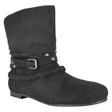 Bongo Youth Girl/'s Tonya Fashionable Slouchy Zipper Boots Blk #66460 177T z NEW