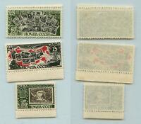 Russia USSR 1946 SC 1080-1082, Z 996-998 MNH. f9348