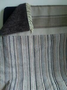 """Striped chenille and wool throw 49""""x36"""""""