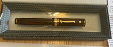 Wahl Eversharp Decoband Rosewood Ebonite 14- kt gold Nib Fountain Pen OVER-SIZED