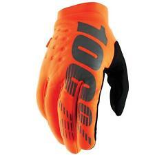 100 Brisker Full Finger Men Handschuhe L orange schwarz