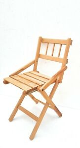 Chair Seat Folding Wood, Sea Picnic, Garden, Camping