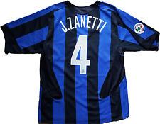 maglia Inter Zanetti 2005/2006 Home Jersey Nike Sphere-Dry L Pirelli Scudetto