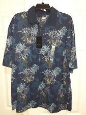 Greg Norman Short Sleeve Floral Classics II Play Dry Shirt NWT