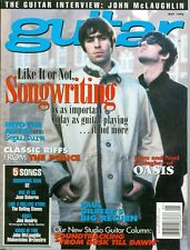 1996 Guitar Magazine: Liam & Noel Gallagher of Oasis/Songwriting/The Police Riff