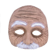 HALF #FACE OLD MAN WOMAN MASK MOUSTACHE TASH FANCY DRESS PARTY ACCESSORY