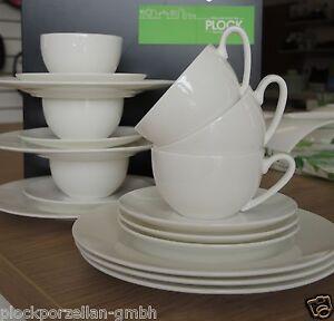 ROSENTHAL JADE weiß Bone China Geschirr Kombi Tee/Kaffee Tassen Set 18 tlg 28429
