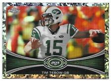 2012 Topps Chrome TIM TEBOW Camo Refractor Ref. /499 New York Jets #180