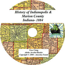 1884 History of Indianapolis & Marion County Indiana IN