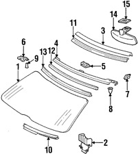 Genuine Mercedes-Benz Lower Cover 129-670-01-08