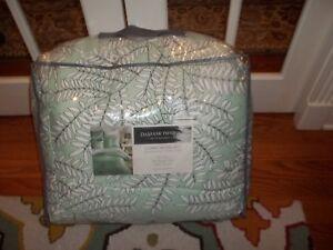 New Charter Club Damask Designs Mint Green Fern Leaf Full/Queen Comforter Set