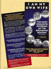 """Jefferson Mays """"I AM MY OWN WIFE"""" Doug Wright / Pulitzer Prize Winner 2003 Flyer"""