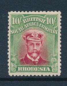 Rhodesia 1913 - 22 10/- ten shillings    Admiral Die III Perf 14 MINT SA