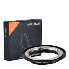 K&F Concept adapter for Nikon Auto Ai AIS mount lens to Canon EOS camera 60D 5D3