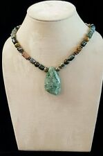 Necklace Moss Agate Focal Pendant Ocean Jasper 925 Silver Perfect 4 Mother's Day