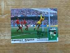 ST VINCENT GRENADINES 1986 MAXICARD WORLD CUP FOOTBALL BULGARIA ARGENTINA