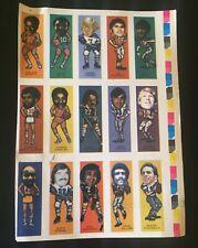 "1974 Nabisco Sugar Daddy ""Pro Faces"" Uncut 15 Card Sheet w / Roger Staubach Rare"