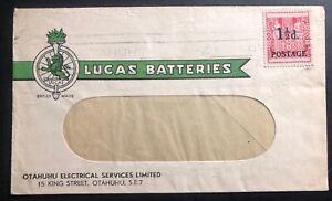 1930s Otahuhu New Zealand Advertising Window Cover Lucas Batteries