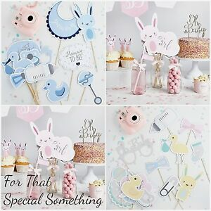 Baby Shower Photo Props. Unisex, boy or girl.