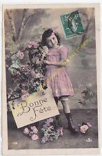 CPA Old Postcard vintage Enfant Child X 112 BONNE FETE