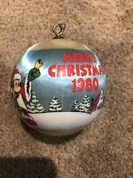 1980 Disney Mickey Mouse Satin Wrap Ball Hallmark Christmas Tree Ornament