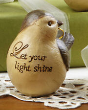 "Bird ""Let Your Light Shine"" Hanging Ornament or Stand Alone Insperational"