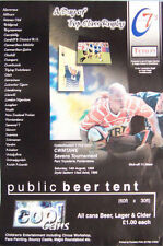 """Cwmtawe Sevens 1999 Wales Rugby Poster - size A2, 59.4cm x 42cm = 23.4"""" x 16.5"""""""
