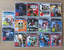 14 PS3-Spiele, z.B. RDT, Last of Us, Uncharted 1-3, Resident Evil, Fifa16, F1_13