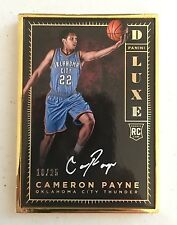 2015-2016 Panini Luxe Cameron Payne Rookie Auto Gold Frame 10/25
