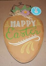 "Easter Wall Decor Happy Easter Wood & Metal Sign 14"" x 8 ""x 1/4"" Thick 108P"