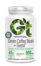 2pk Genesis Today 100% PURE Green Coffee Bean Extract Svetol Caps New 90ct Size!