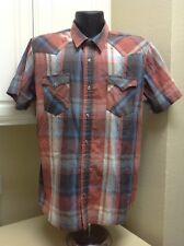 Vtg Levi's Men's Western Pearl Snap Long Sleeve Plaid Shirt Size XLarge