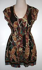 Womens LUSH Black Multi Colored Sleeveless Dress ~ Size XS ~ Casual Career