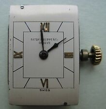 GENUINE VINTAGE PATEK PHILIPPE L90 WATCH MOVEMENT MECHANISM Nº 834418 & DIAL