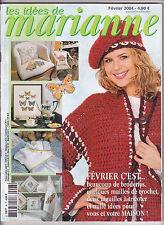 Les idées de Marianne N°96 février 2004 point de croix , tricot