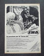 F610 - Advertising Pubblicità - 1970 - INA , LA PENSIONE PER LA TERZA ETA'