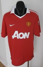 MANCHESTER UNITED FOOTBALL CLUB JERSEY SHIRT L NIKE AON PREMIER LEAGUE SOCCER
