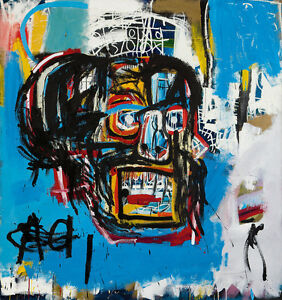 """32W""""x34H"""" UNTITLED 1982 HEAD by JEAN-MICHEL BASQUIAT Giclee - CHOICES of CANVAS"""