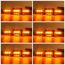 54 Amber LED Vehicle Emergency Warning Strobe Lights Bars Deck Dash Grill Lamp