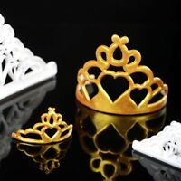 2Pcs Crown Icing Cutter Fondant Mould Cake Decorating Cookies Mold Sugarcraft UK