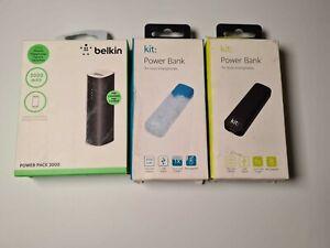 Belkin 2000 mAh Power Bank Phone Charger for iPhone 5,6  ( 3 powerbanks)