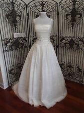 VE3W) LOVE BY ENZOANI EMDEN SZ 12 IVORY $1600 SAMPLE FORMAL WEDDING GOWN DRESS