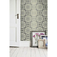 Royal floral Non-woven wallpaper yellow and black Home wall mural design