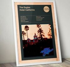 More details for the eagles print, hotel california print, album cover print, rock band poster