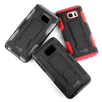 Rugged Belt Clip Holster Protective Phone Cover Case for Samsung Galaxy Note 5