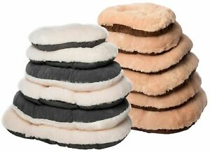 Gor Pet Nordic Oval Cushion Calming Dog Bed Comfy Warm Soft Washable Faux Fur